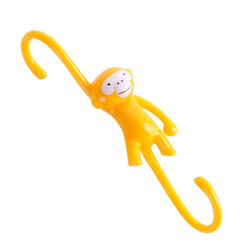 online shop cute monkey hanging kitchen hooks yellow kitchen home