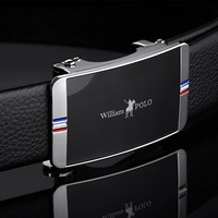leather belt men Business Fashion Design Buckle Luxury Brand Waist Belt For Male Casual Black ceinture men belt WILLIAMPOLO18243