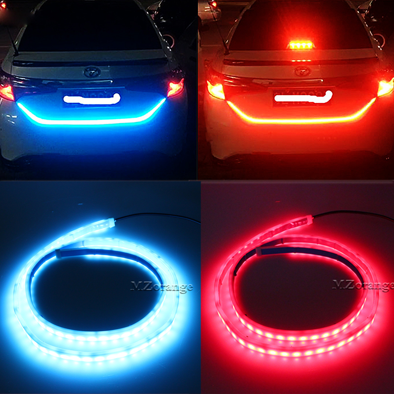 NEW 90cm 120cm 335 LED Dynamic Streamer Turn Signal Tail Box Trunk Lights Luggage Compartment Tailgate LED Warning Light Strips