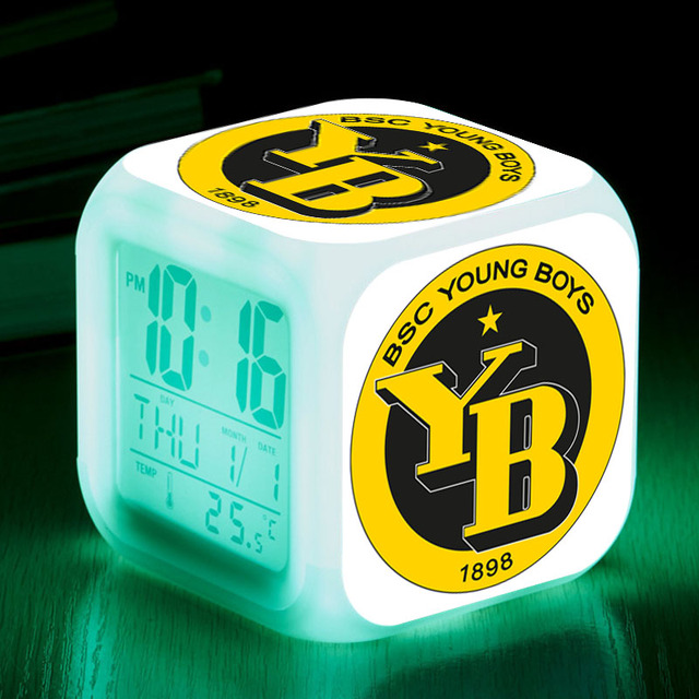 BSC Young Boys Bern LED Digital Alarm Clock reloj despertador Watch ...