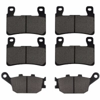 Motorcycle Front And Rear Brake Pads For HONDA CBR600F4 CBR600 F4 Sport 1999 2007 Black Brake