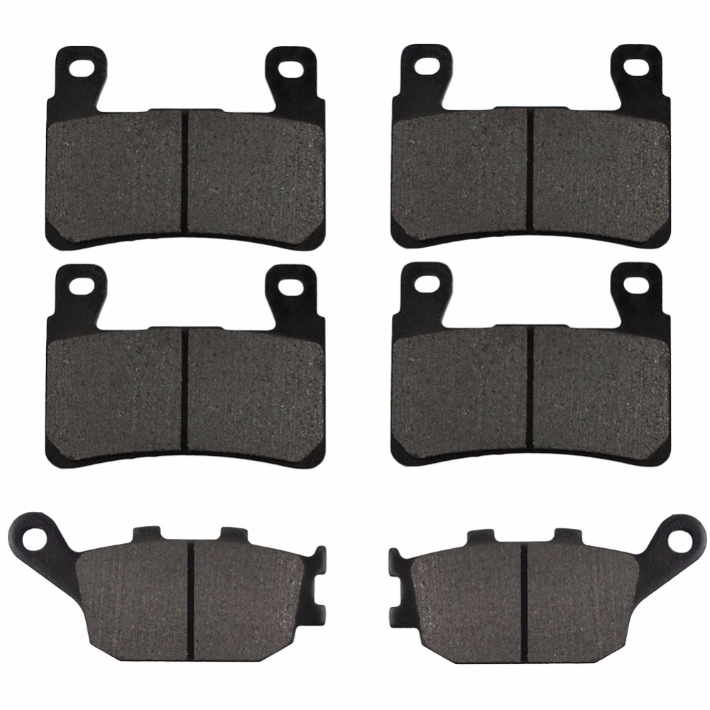 Motorcycle Front and Rear Brake Pads for HONDA CBR600F4 CBR600 F4 - Sport 1999-2007 Black Brake Disc Pad Kit motorcycle front and rear brake pads for yamaha xvs 1300 ctw ctx v star 1300 tourer 2007 2010 black brake disc pad
