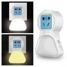 HobbyLane EU Plug US Plug 5W LED Night Light AC Adjustable Night Light White & Warm Lighting Creative Bedroom Bedside Lamp
