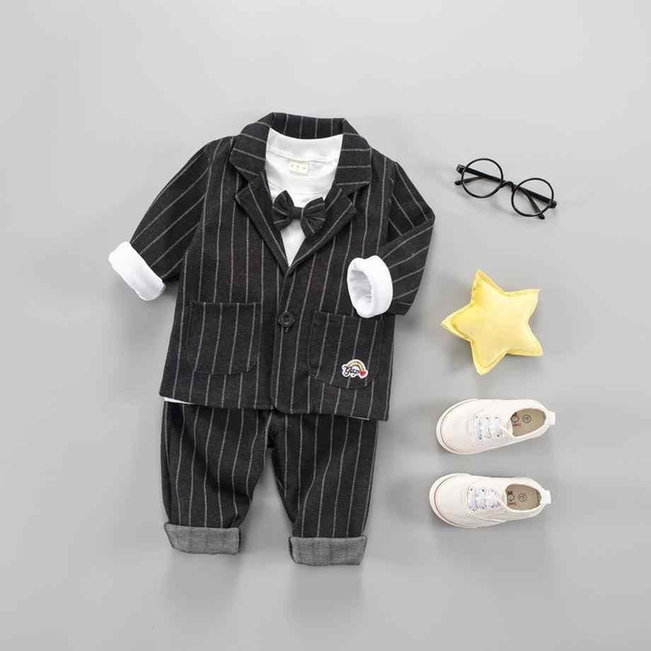 3581435bbfc2 ... Del bambino vestiti dei ragazzi 2019 primavera tre pezzi per bambini  outfits 1 2 3 anni ...