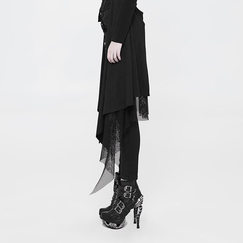 Женские обтягивающие брюки в стиле панк WK 319NCF - 2