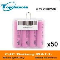 50X4 шт./партия высокое качество 3.7 В 2600 мАч Li Ion 18650 литий ионная Батарея ICR18650 26F 2600 мАч батареи baterias с коробка