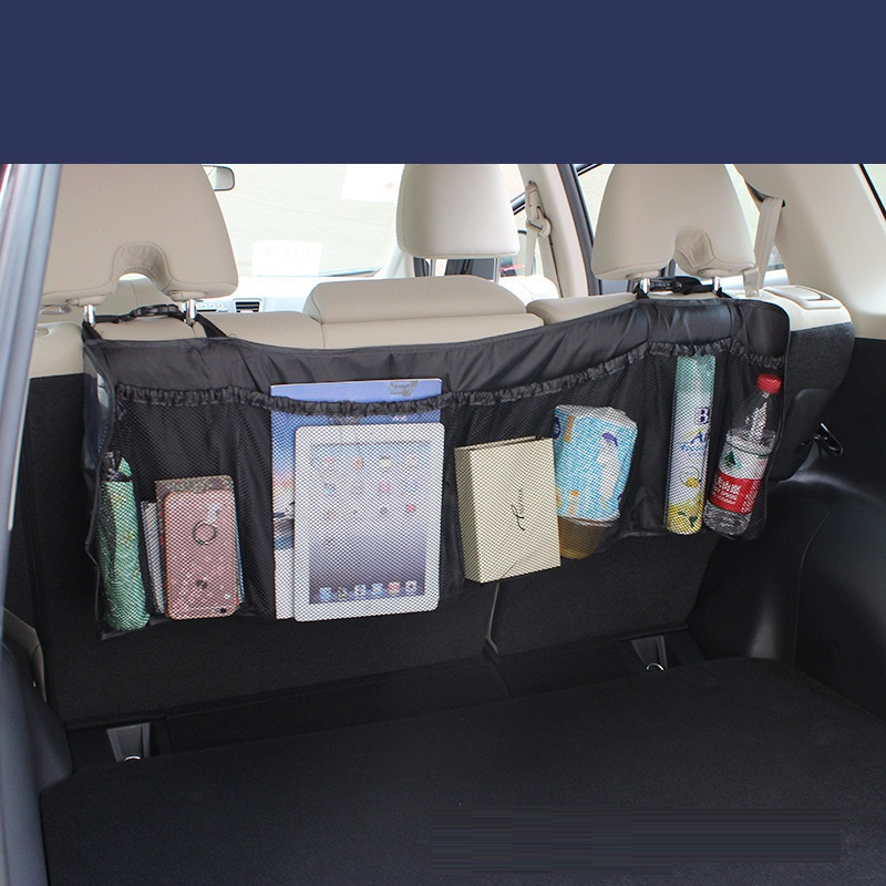 95*32cm Lengthened car pocket organizer car seat back hanging stowing tidying storage of cosmetics trash car tools trunk bag