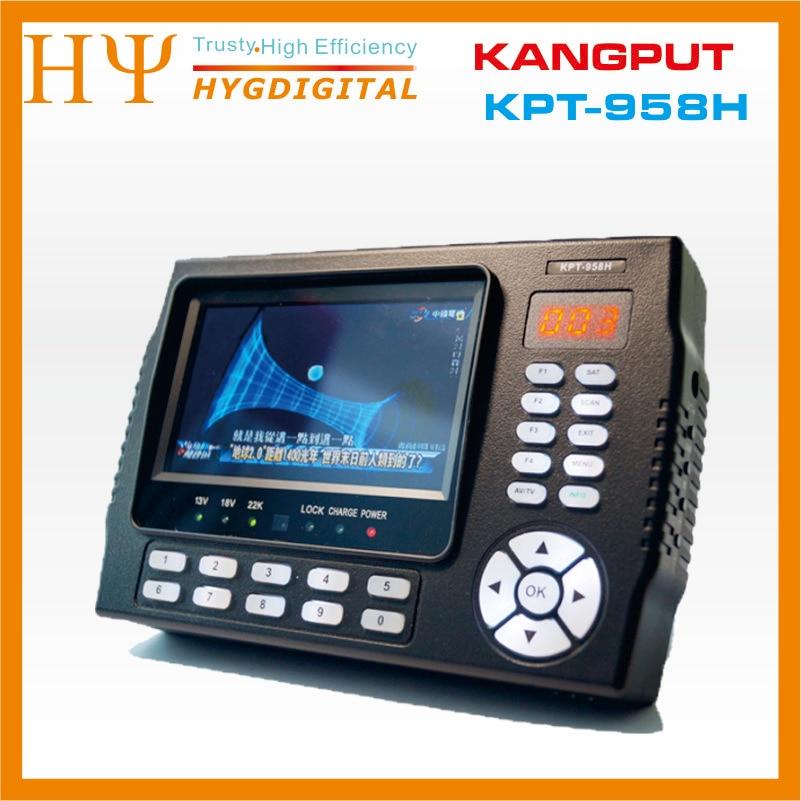 [Подлинный] Kangput KPT 958H 4,3 дюйма DVB S/S2 ТВ приемник СБ finder Портативный многофункциональный HD монитор спутникового поиска MPGE4