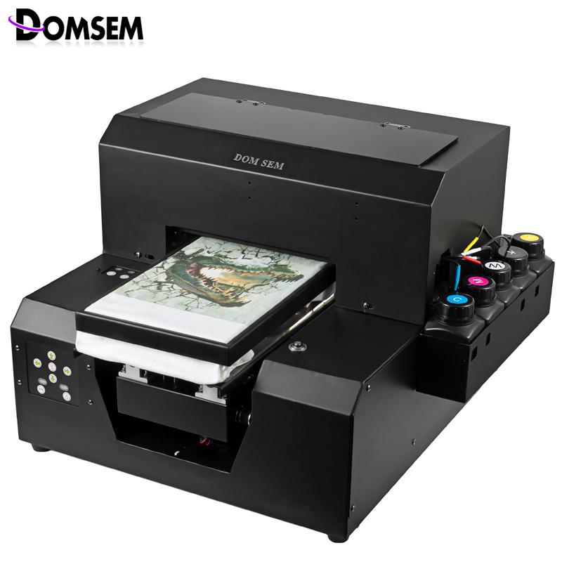 Digital Cloth Garment T shirt Printer UV inkjet Dry instant A4 size 2880dpi DX5 printhead