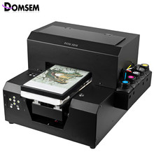 Digital Kain Pakaian T Shirt Printer UV Inkjet Kering Instan A4 Ukuran 2880 Dpi DX5 Printhead(China)