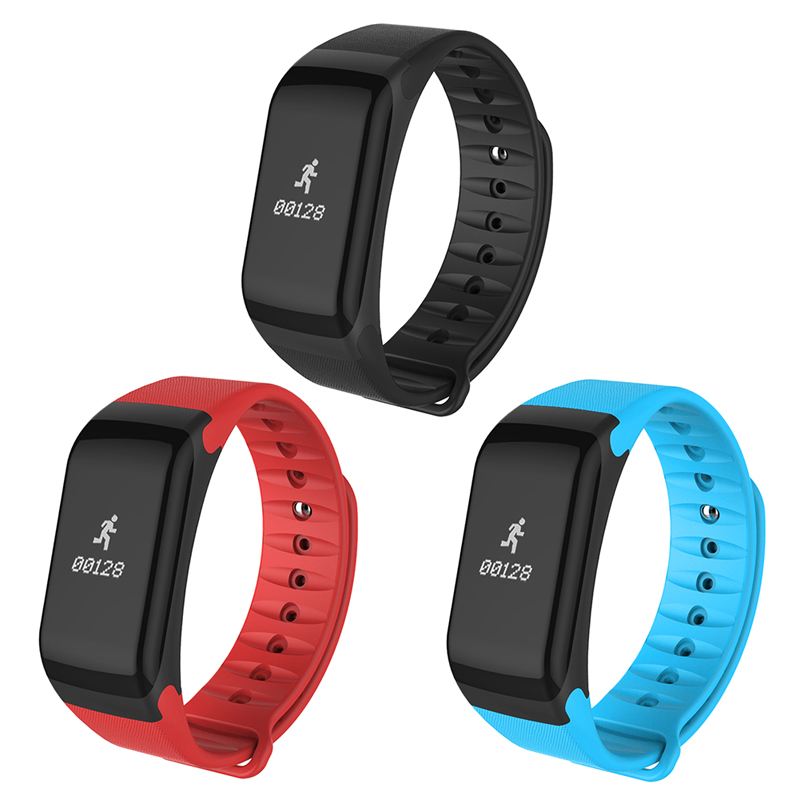 F1 Bluetooth Smart Watch Waterproof Sports Wristband Pedometer Heart Rate Monitor Calories Caculating For iOS Android