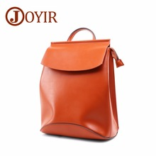 JOYIR Fashion Womens Backpack High Quality Genuine Leather School Bags For Teenage Girls Bagpack Women Female Knapsack