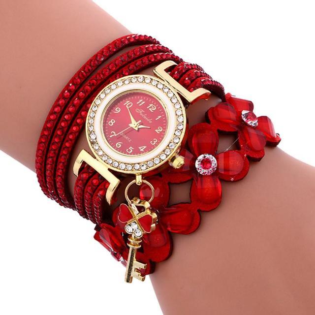 Moment# N03 Fashion relogio feminino Chimes Diamond Leather bracelets for women