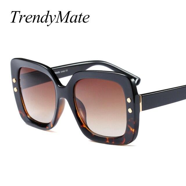 987e922c95c33b Falt Top Fashion lunettes de Soleil Femmes Marque Designer Grande Place Rétro  Style Lunettes de Soleil