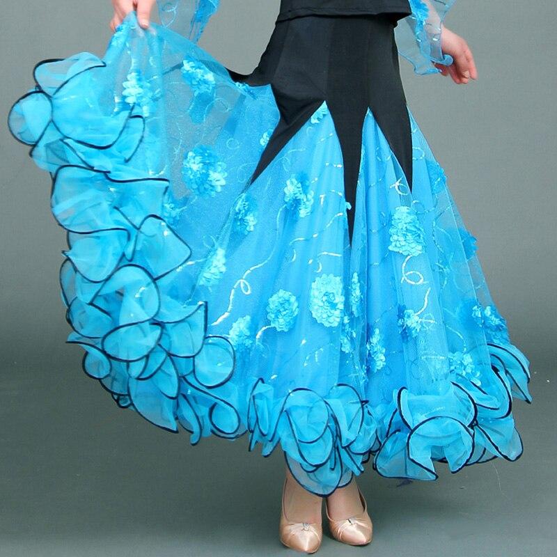 2018 Dress Standard Ballroom Dancing Modern Ballroom Skirt Tango Dance Skirts Latin American Dance Dresses Dance Skirts