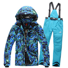 Free shipping Rossignol NEW Thicker coat jacket men ski jacket and pants suits winter outdoor waterproof windproof skiing set