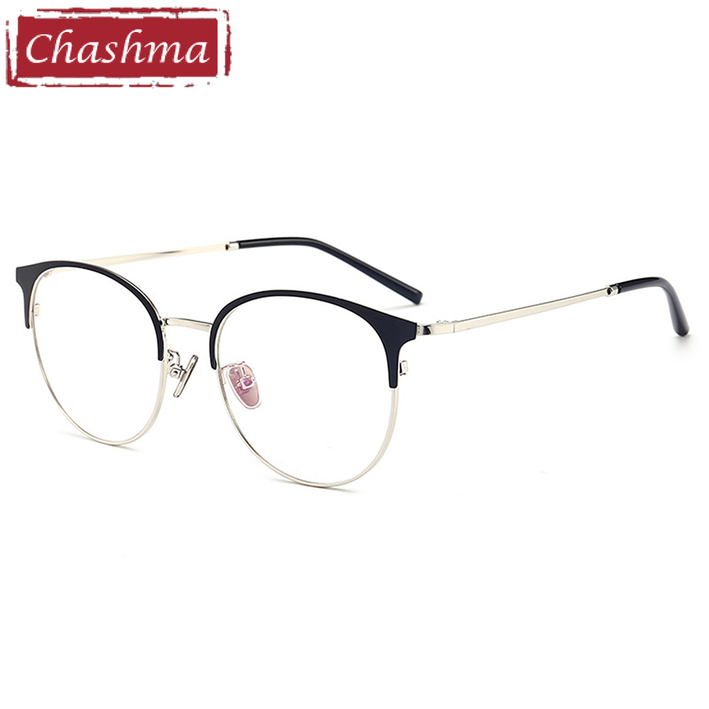 Prescription Glasses Eye Frames Men Retro Big Circle Eyeglasses Female Male Prescription Glasses Full Rimmed Round Glasses
