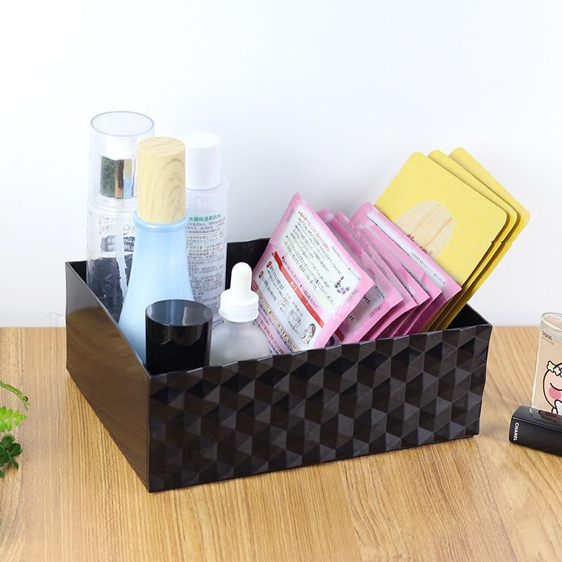 Acrylic Cosmetic Storage Box Jewelry Cotton Swab Dresser Desktop Finishing Eyebrow Brush Dust-proof Storage Rack Makeup Tool