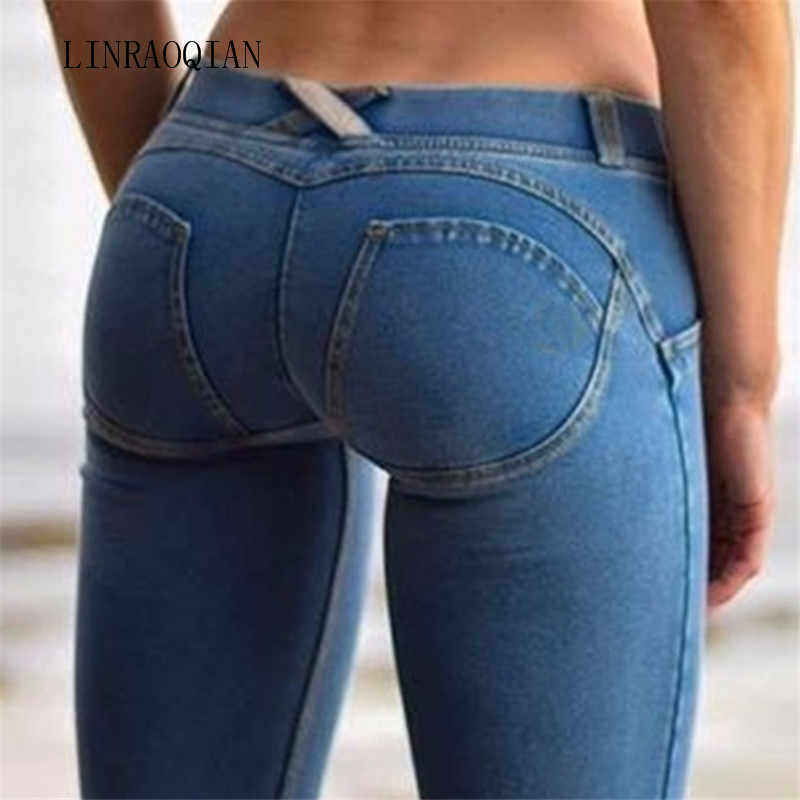 5cc3ec569c03c Sexy Women Casual Freddy Pants Jeans Skinny Butt Leggings Bodycon Low Waist Denim  Pants Push Up