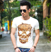 Free Shipping hot-selling male brief short-sleeve fashion T-shirt men 100% cotton top tee