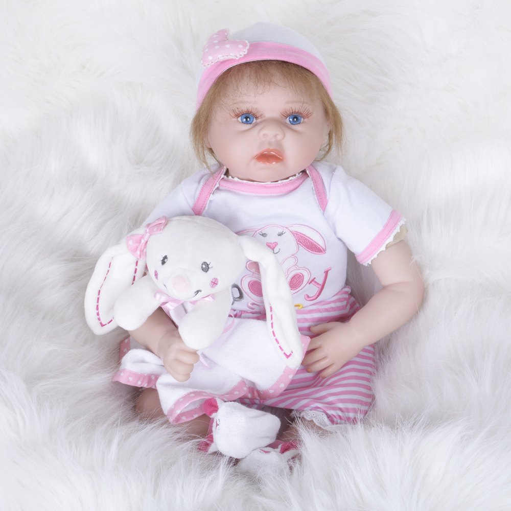 22inches 55CM Girl Reborn Baby Dolls with Pink Clothes Kids Toys Gifts Brinquedos hot sale toys 45cm pelucia hello kitty dolls toys for children girl gift baby toys plush classic toys brinquedos valentine gifts