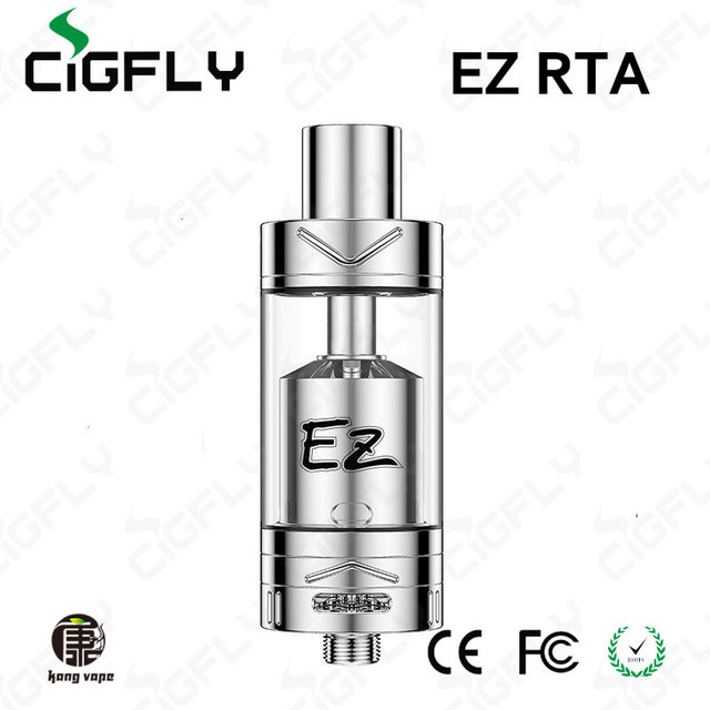 Original Authentic Youde UD EZ RTA Rebuildable Tank RBA Atomizer 4ml Top filling Screwless post Dual coils design E Cigarette