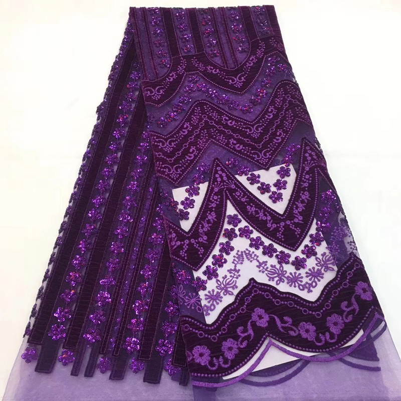 (5yards/pc)  excellent African velvet tulle lace fabric with sequins embroidery fashion French net lace for party dress FCC005(5yards/pc)  excellent African velvet tulle lace fabric with sequins embroidery fashion French net lace for party dress FCC005
