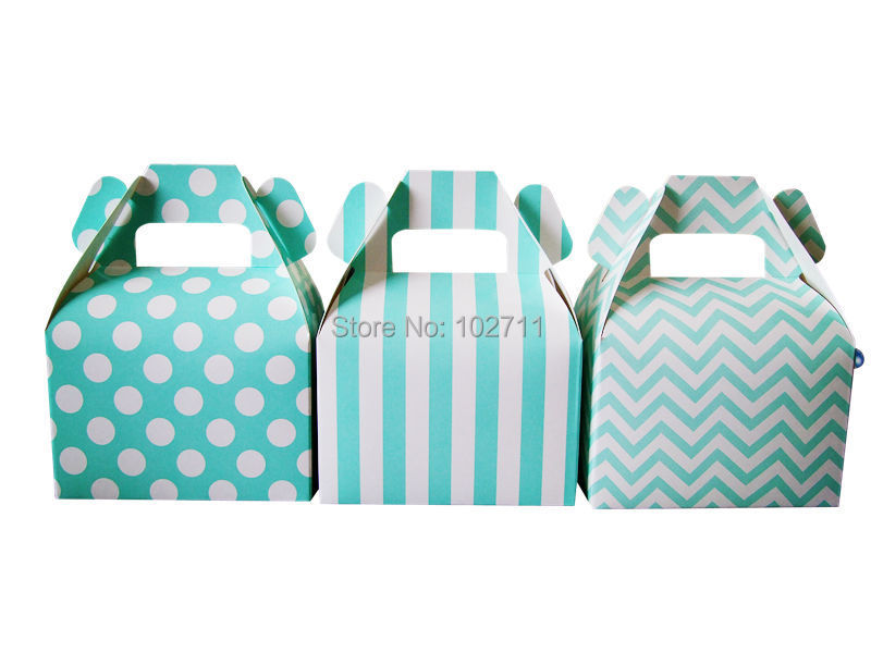 36pcs Sweet Love Blue Tiffany Blue Paper Bags Small Gift Candy Boxes Wedding Party Favor Without Ribbon Birthday Decor