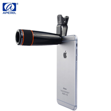 Promo offer APEXEL Universal Camera Zoom Optical 12X Telescope Lens For Samsung galaxy S4 S5 S6 S7 edge S8 Plus note 3 4 5  Drop Shipping