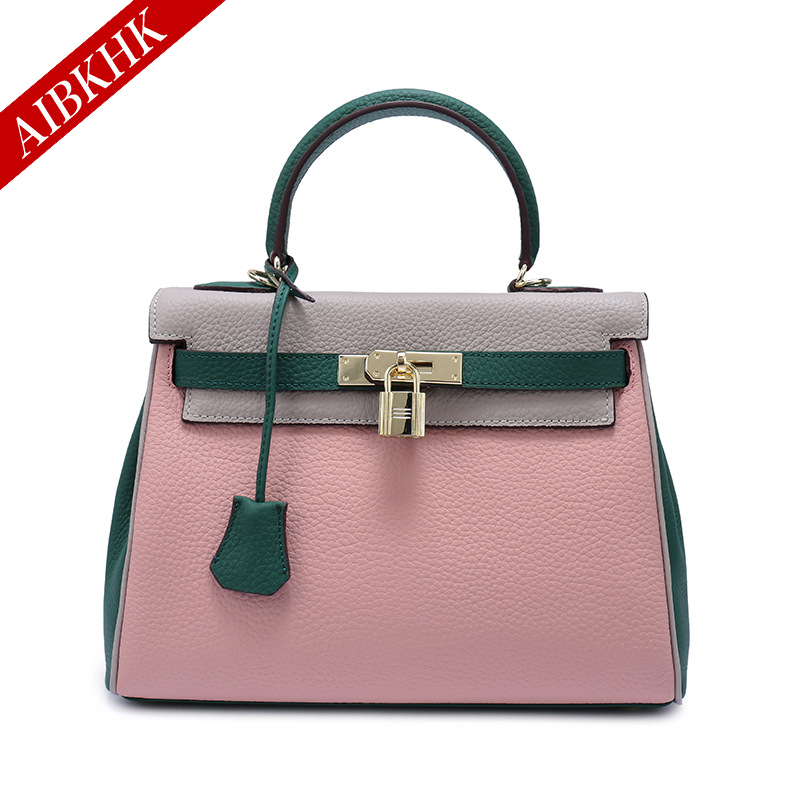 купить 100% Genuine Leather Women Handbags New Fashion High Quality Ladies Shoulder Bags Female Girl Real Natural Leather Luxury Bag