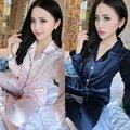Fashinon Women Men Upscale Homewear Nightshirt Soft Satin Couples Faux Silk Long Sleeve Sleepwear Pajamas Sets