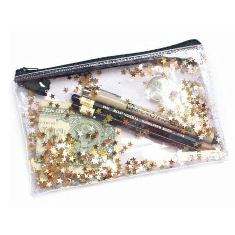 Блестящий Звездный кожаный пенал тканевый пенал для карандашей etui a crayons cuir пенал для карандашей stifte tasche Пенал школьный мешок Слива 05002