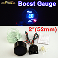 "Car Gauge 2"" 52mm Bar Turbo Boost Gauge Car Meter Auto Blue LED Digital Display Black Rim Shell for 12V Vehicle"