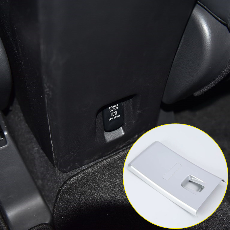 For Mitsubishi Eclipse Cross 2018 ABS Plastic Interior Rear Air Vent Outlet Panel Cover Trim 1pcs