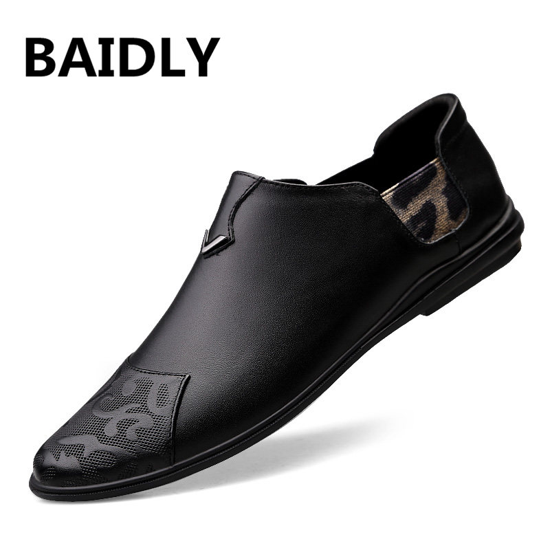 Handmade Genuine Leather Men Shoes Fashion Walking Shoes for Men Design Superstar Breathable Real Leather Shoes