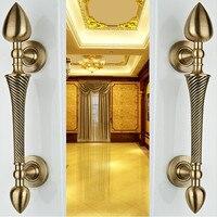 260mm High Quality Bronze Wood Door Handles Pulls Red Bronze Zinc Alloy Door Pulls Home KTV