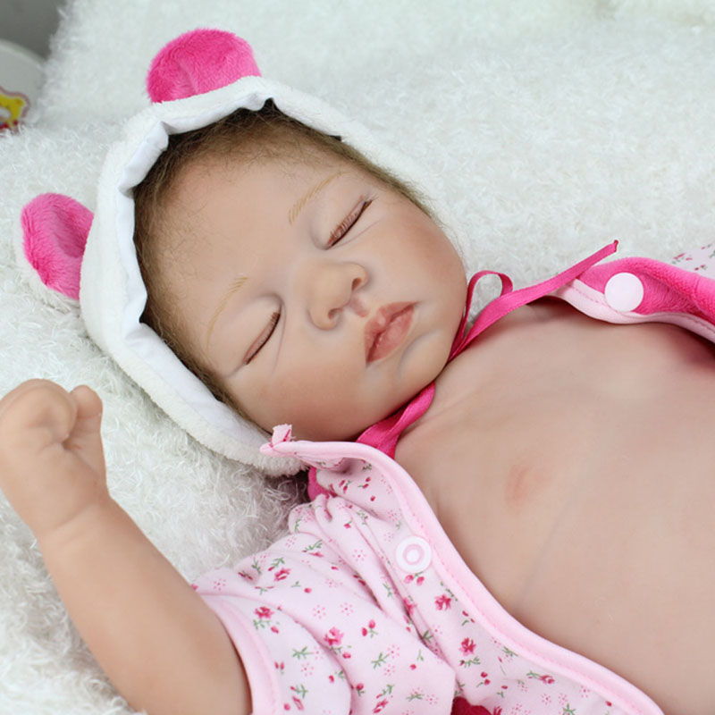 ФОТО NEW BeBe Reborn 22inch Soft Silicone Reborn Dolls Kawaii Lifelike Realistic Newborn Baby Brinquedos For Children Christmas Gift