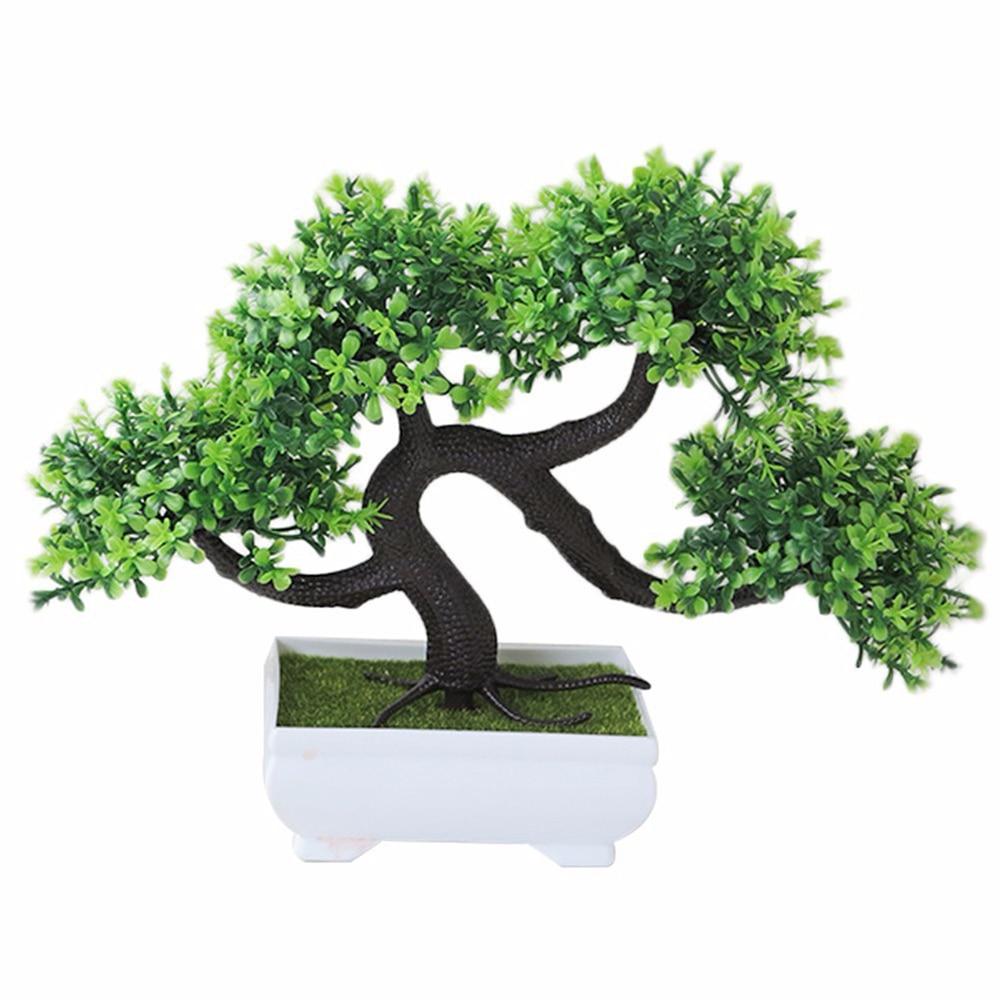Искусственные растения искусственный цветок растения бонсай сад отель садовый декор Мода красивый ручной работы ДРАКОН борода дерево - Цвет: green