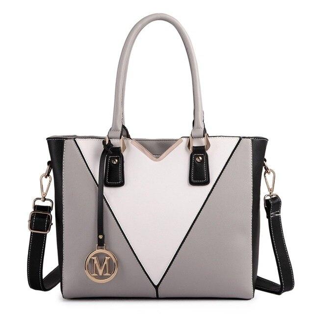Miss Lulu Women Designer V Shape Handbag Messenger Tote