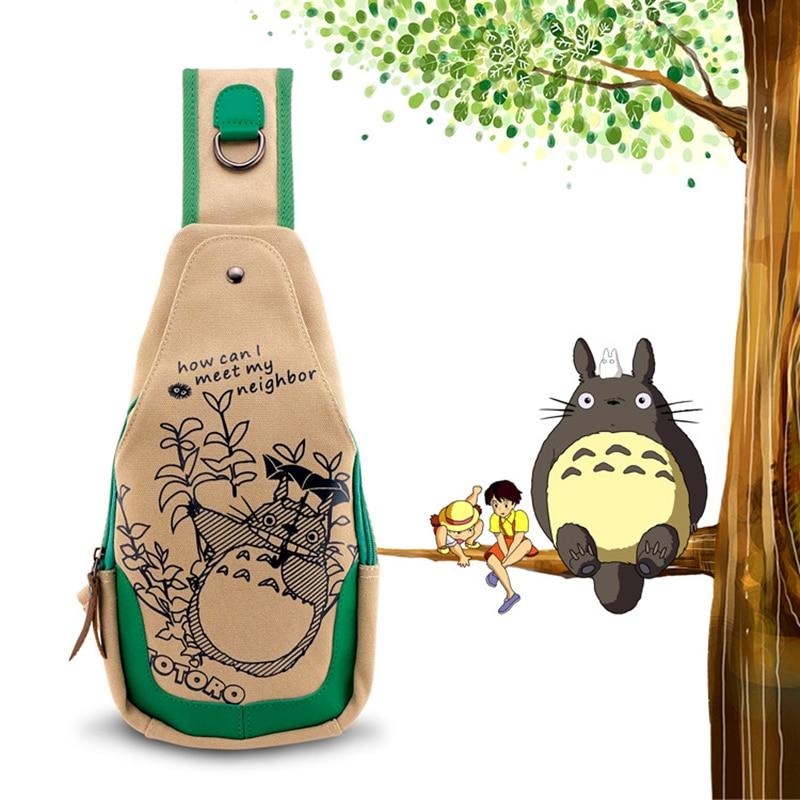 Anime Totoro/Cat Teacher/Umaru-chan/Hatsune Miku/kantai collection Washed Canvas Women Messenger Bags Kawaii School Chest Bag