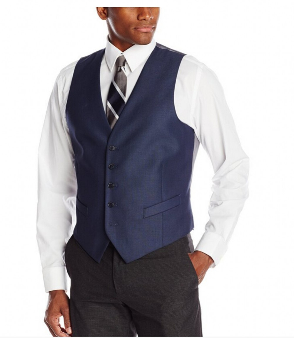A blue or gray suit - including jacket, pants and vest - could be the perfect addition to your work wardrobe. Blue and gray are menswear neutrals, which means they'll work well with nearly any color dress shirts and ties (and you'll get more style miles out of a single suit .