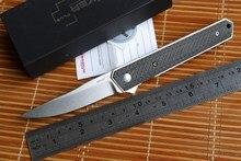 Newest Boker Kwaiken ceramic ball bearing folding knife VG10 blade Titanium carbon fiber handle kitchen fruit knife EDC tool