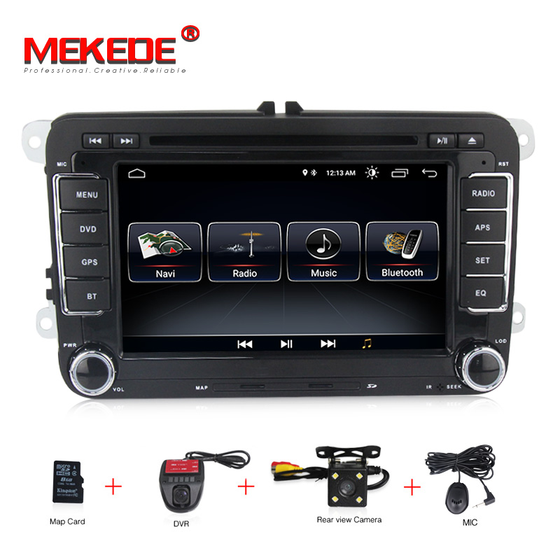 Android 8.1 voiture DVD GPS Navigation 1024*600 Quad Core pour VW Volkswagen Skoda POLO GOLF 5 6 PASSAT JETTA TIGUAN TOURAN Caddy