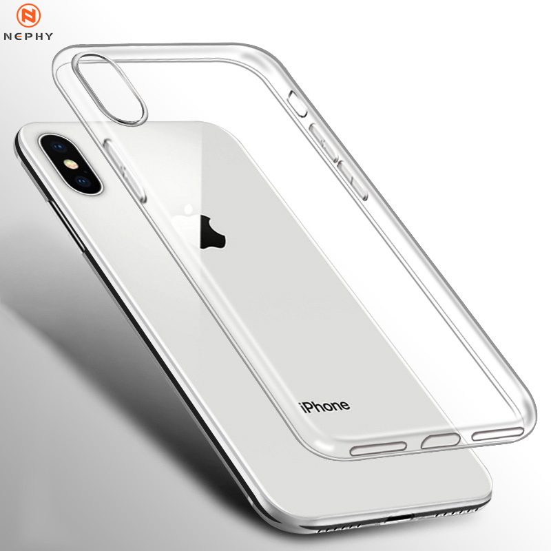 Clear Silicone Soft Case For iPhone XS Max XR X 11 pro Coque 7 8 Plus 6 S 6S 4 4S 5 5S 5SE 6Plus 7Plus 8Plus Back Cover TPU Etui(China)