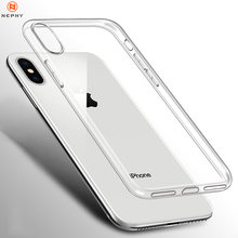 Clear Silicone Soft Case Voor iPhone XS Max XR X Coque iPhone 7 8 Plus 6 S 6 S 4 4S 5 5S 5SE 6Plus 7Plus 8 Plus Back Cover TPU Etui(China)