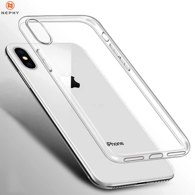 Klar Silikon Weiche Fall Für iPhone XS Max XR X 11 pro Coque 7 8 Plus 6 S 6 S 4 4S 5 5S 5SE 6Plus 7Plus 8 Plus Zurück Abdeckung TPU Etui