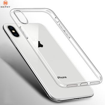 Przezroczysty silikonowy futerał na iPhone XS Max XR X 11 pro Coque 7 8 Plus 6 S 6 S 4 4S 5 5S 5SE 6Plus 7Plus 8 Plus tylna pokrywa TPU Etui tanie i dobre opinie Nephy Aneks Skrzynki Ultra Thin For iPone xsmax 10 Women Men Phone Bumper Housing Casing Apple iphone ów Iphone 6 plus