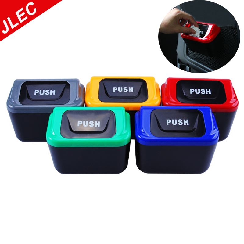 1X Car Trash Can Garbage Attractive Bin Auto Organizer Storage Box Rubbish Gargage Holder for mercedes for Lada Car Accessories