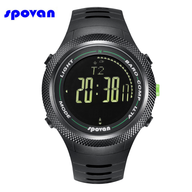 SPOVAN Watch Waterproof LED 3D Pedometer Calorie Counter Dual Time Thermometer Men's Digital Chronograph Sport Watch Clock Men 10color digital lcd pedometer run step walking distance calorie counter men women watch bracelet watch reloj hombre montre femme