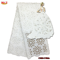 Mr Z Fashion Laser Cutting Jacquard Fabric African Embroidery Lace Fabric For Party 2017 Origin Swiss